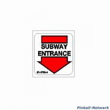 Judge Dredd Subway Entrance Decal