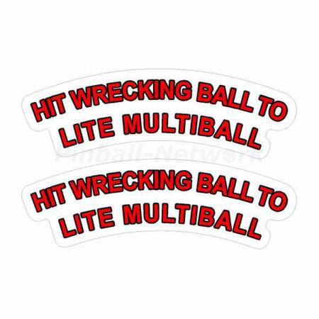 Junk Yard Wreck Ball Decals