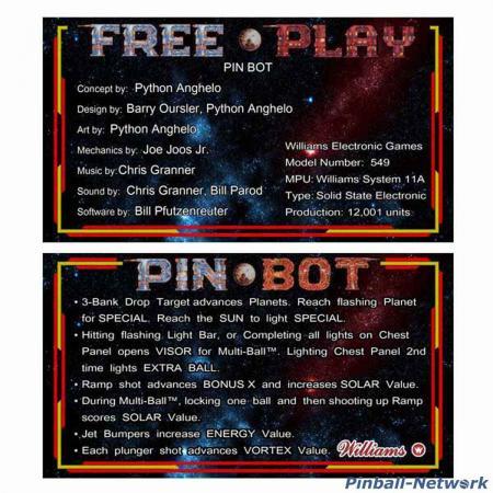 Pin Bot Custom Cards