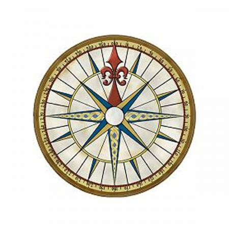 Pirates of the Caribbean Compass Disc Decal