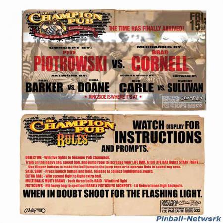 The Champion Pub Custom Cards