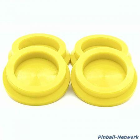 Untersetzer für Flipperfuß gelb, 4er Set
