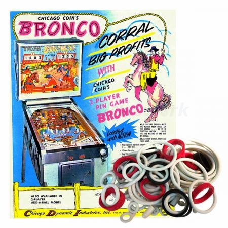 Bronco Chicago Coin Gummisortiment
