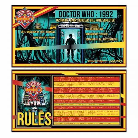 Doctor Who Custom Cards, Design 2