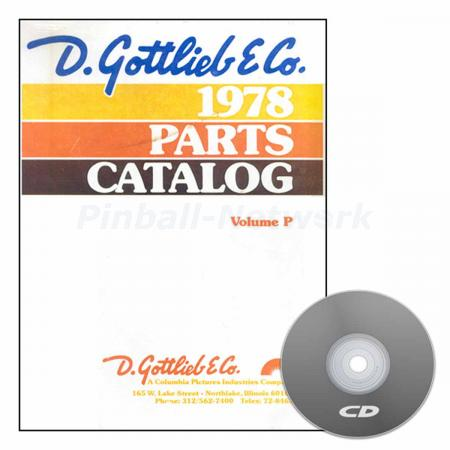 Gottlieb Parts Catalog 1978