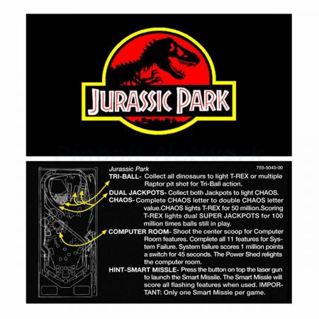 Jurassic Park Data East Custom Cards