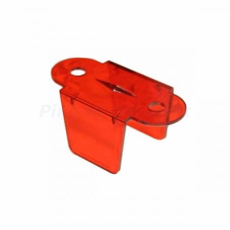 "Lane Guide 1 3/4"", rot transparent (03-8204-9)"