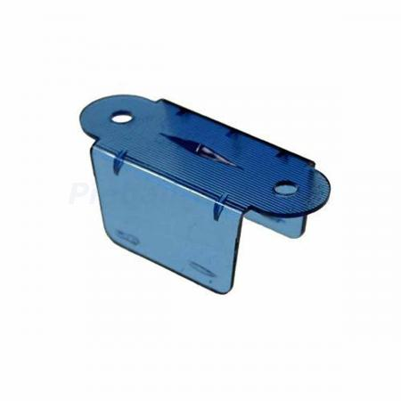 "Lane Guide 2 1/8"", blau transparent"
