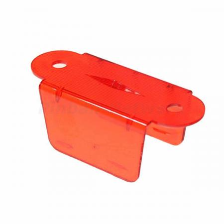 "Lane Guide 2 1/8"", rot transparent"