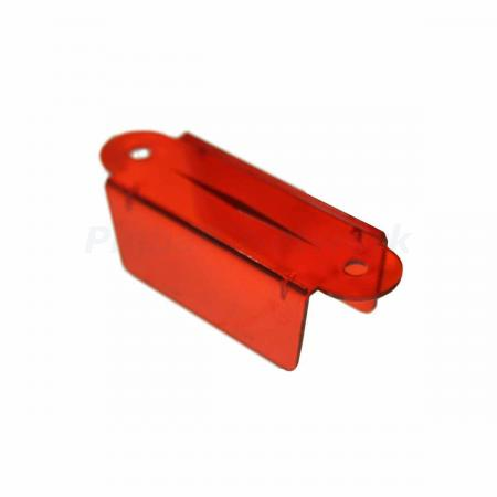 "Lane Guide 3 1/8"", rot transparent"