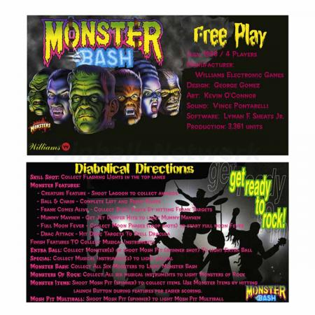 Monster Bash Custom Cards, Design 1