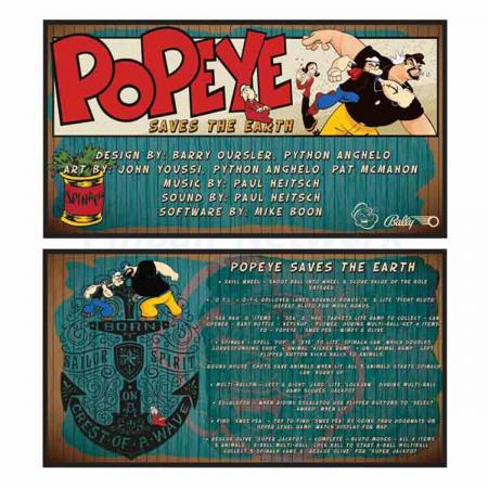 Popeye Saves The Earth Custom Cards