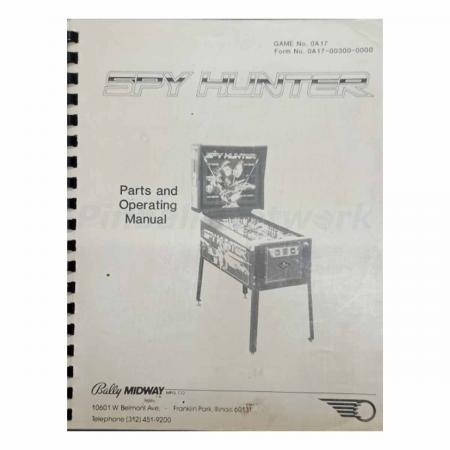 Spy Hunter Parts and Operations Manual, Original