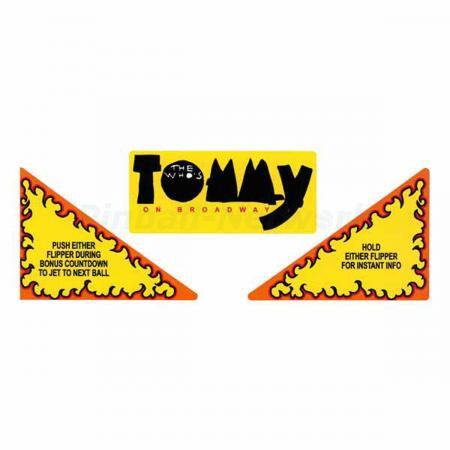 The Who's Tommy Pinball Wizard Apron Decals