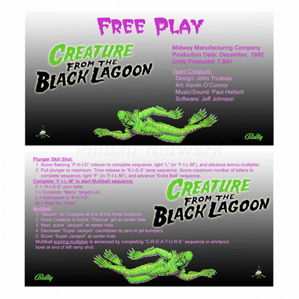 Creature From The Black Lagoon Custom Cards