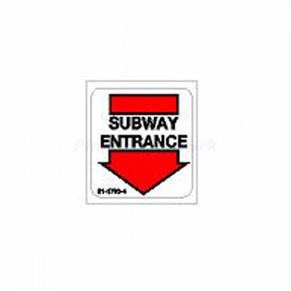 Judge Dredd Subway Entrance Decal