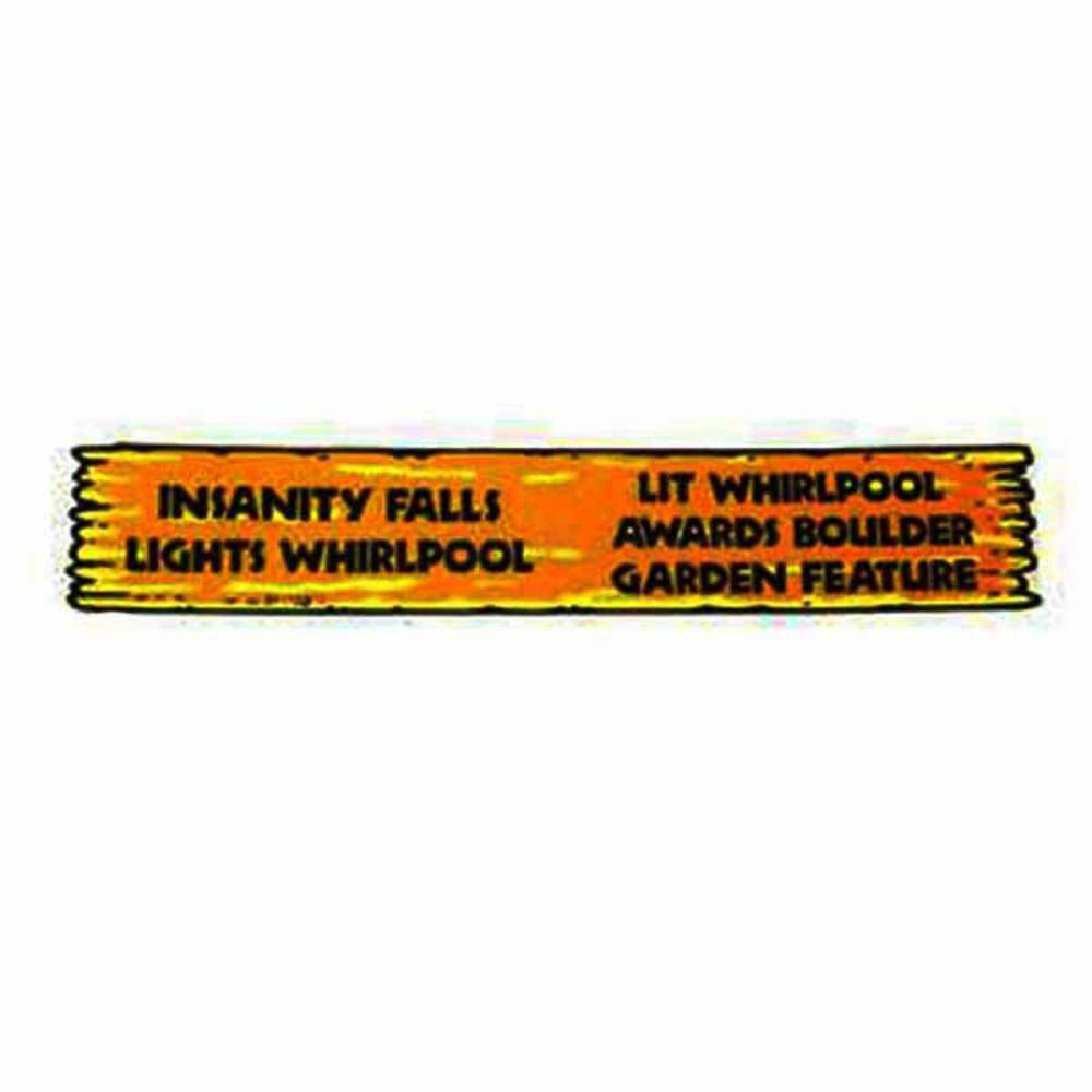 White Water Insanity Falls Decal
